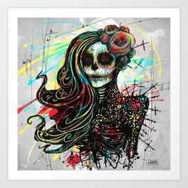 Vivid Muerte Art Print