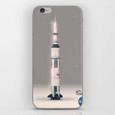 retro Apollo Saturn 5 poster iPhone & iPod Skin