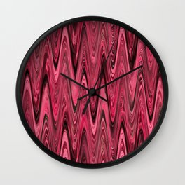 Zigzag Deep Pink Wall Clock