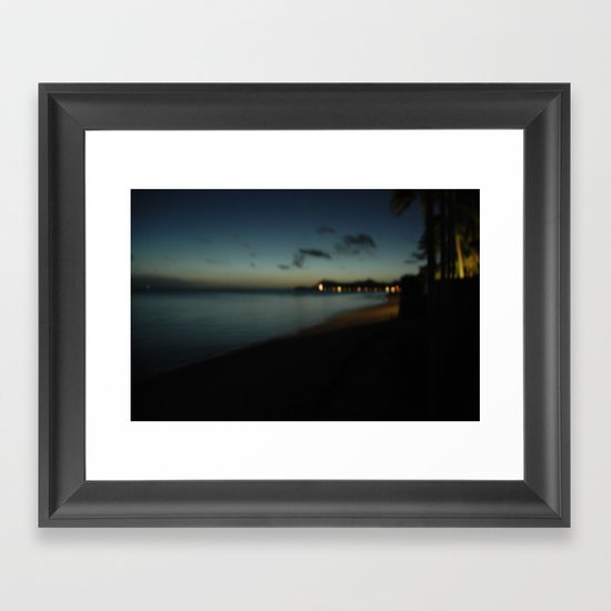 bora bora blue Framed Art Print