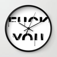 fuck you Wall Clocks featuring FUCK YOU by DejaLiyah