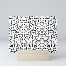 Bird & Flower Pattern Mini Art Print