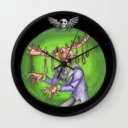 Noose Moose Dark Wall Clock
