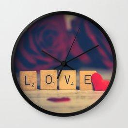Love roses | j'aime les roses Wall Clock