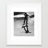 skateboard Framed Art Prints featuring Skateboard by Chiarra Mandato