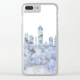 Indianapolis Indiana Skyline Clear iPhone Case