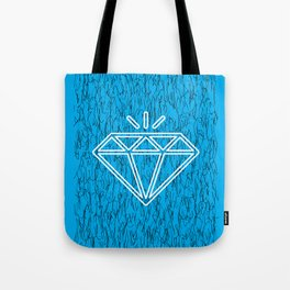 diamond cyan Tote Bag