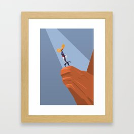 The Lion King (with a penis) Framed Art Print
