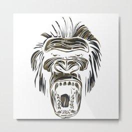 GORILLA KING KONG Metal Print