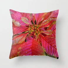 Elegant Poinsettia Throw Pillow