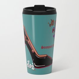 A Steampunk Pump, Stiletto, Steampunk Momma Travel Mug