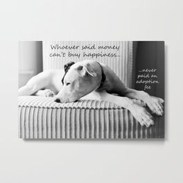 Whoever said money can't buy happiness, never paid and adoption fee Metal Print