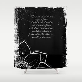 Arthur Rimbaud - I Dance - Phrases Shower Curtain