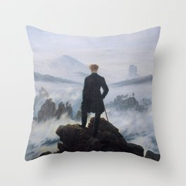 Friedrich Wanderer Above the Sea of Fog Throw Pillow