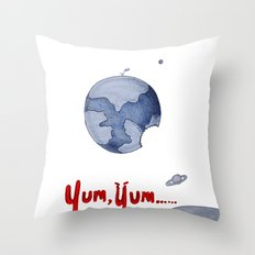 Yum, Yum!! Throw Pillow