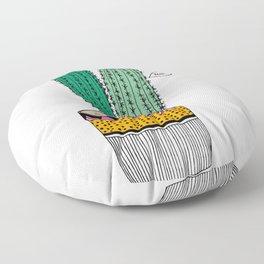 Cacti are pricks Floor Pillow