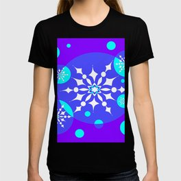 A Winter Snowy Design with Pretty Snowflakes T-shirt