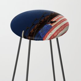 have you got a flag ? usa stars and stripes tile Counter Stool