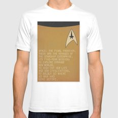 Space: The Final Frontier... MEDIUM White Mens Fitted Tee