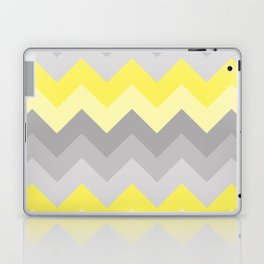 Yellow Grey Gray Ombre Chevron Laptop & iPad Skin