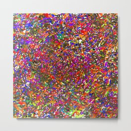 Rainbow Stained Glass Prism Kaleidoscope Potpourri Confetti Piñata Fireworks Metal Print