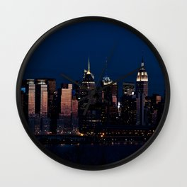 NYC Sunset Wall Clock