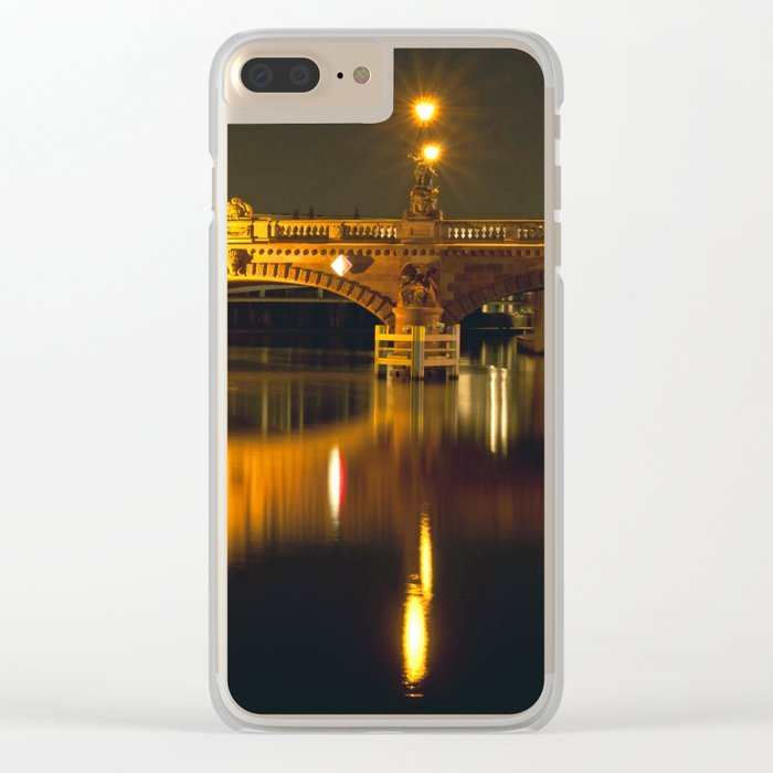 Moltke-Bridge at the river Spree in Berlin Clear iPhone Case