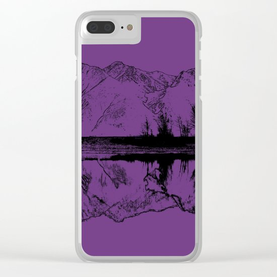 Knik River Mts. Pop Art - 2 Clear iPhone Case