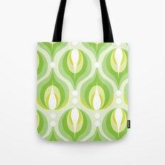 Green Dew Drops Tote Bag