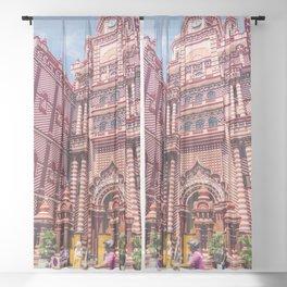 Jami-Ul-Alfar Mosque (Red Mosque) Colombo, Sri Lanka Sheer Curtain