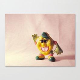 Creepy California Lemon Man Canvas Print