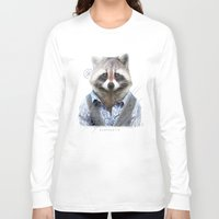 racoon Long Sleeve T-shirts featuring Racoon by iacolarepierre