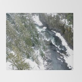Cold stream Throw Blanket