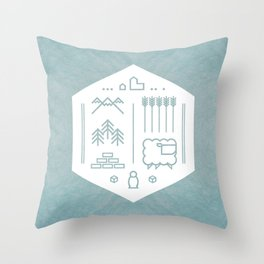 Settlers Line Art Throw Pillow