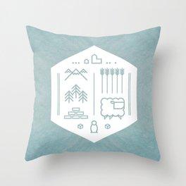 Settlers Line Art Throw Pillow