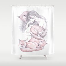 Sleeping Foxes Shower Curtain