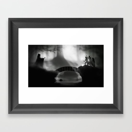 """""""But Death was cunning"""" Deathly Hallows Framed Art Print"""