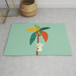 Koala on Coconut Tree Rug