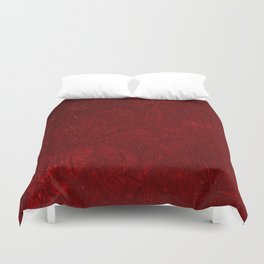 Red Crushed Velvet Duvet Cover