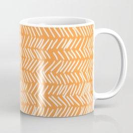 Sherbet Herringbone Lines Coffee Mug