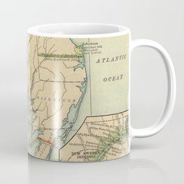 Vintage Virginia and Maryland Colonies Map (1905) Coffee Mug