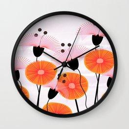 Weird Flowers Wall Clock