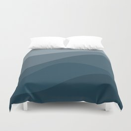 Abstract Color Waves - Blue Palette Duvet Cover