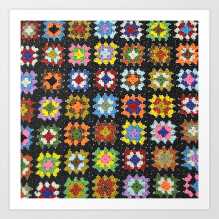 Crochet Granny Squares // Bright Kunstdrucke