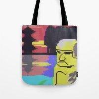 tiki Tote Bags featuring Tiki by Vaporware