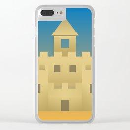 Sand Castle Sunshine Clear iPhone Case