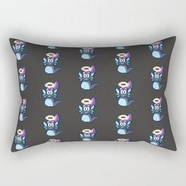 Pixel Angel Ogura Pattern Rectangular Pillow