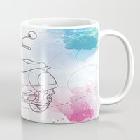 vespa Mugs featuring Vespa by Cary Fdz
