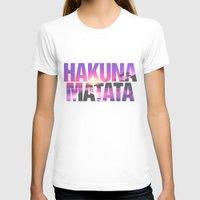 hakuna T-shirts featuring Hakuna Matata Vintage Beach Sunset by RexLambo