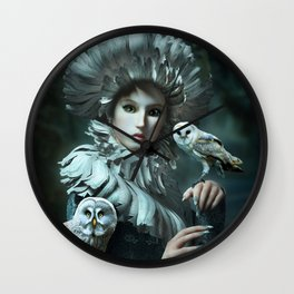 Owls Talk - dedicated to thee_owl_queen Wall Clock
